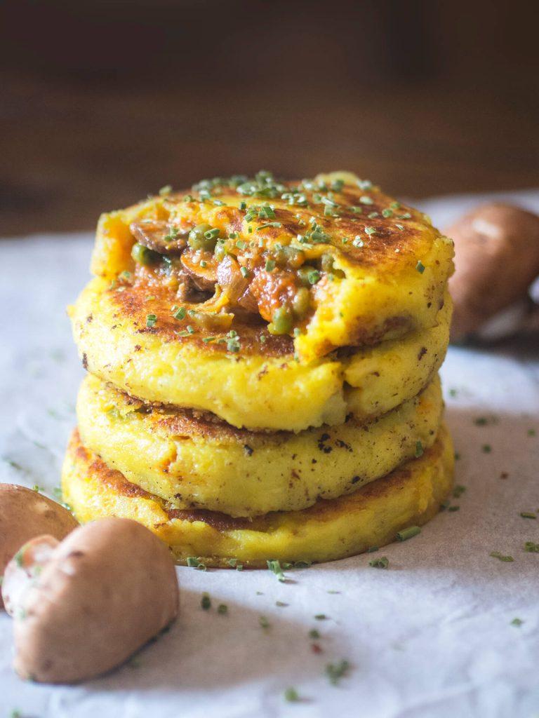 tortas de patata veganas