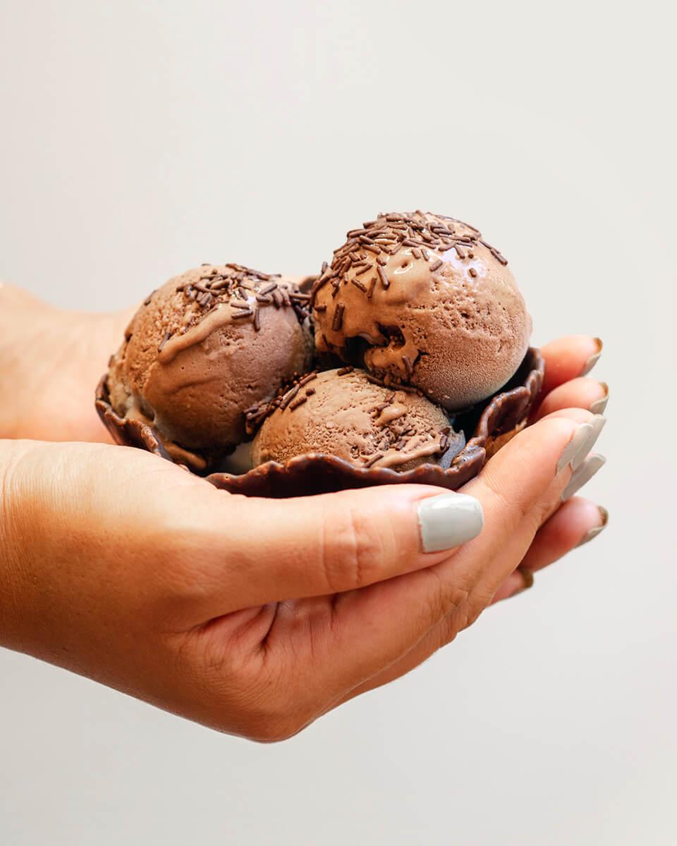 Helado de Chocolate y Plátano Vegano