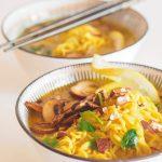 sopa thai de coco y curry vegana