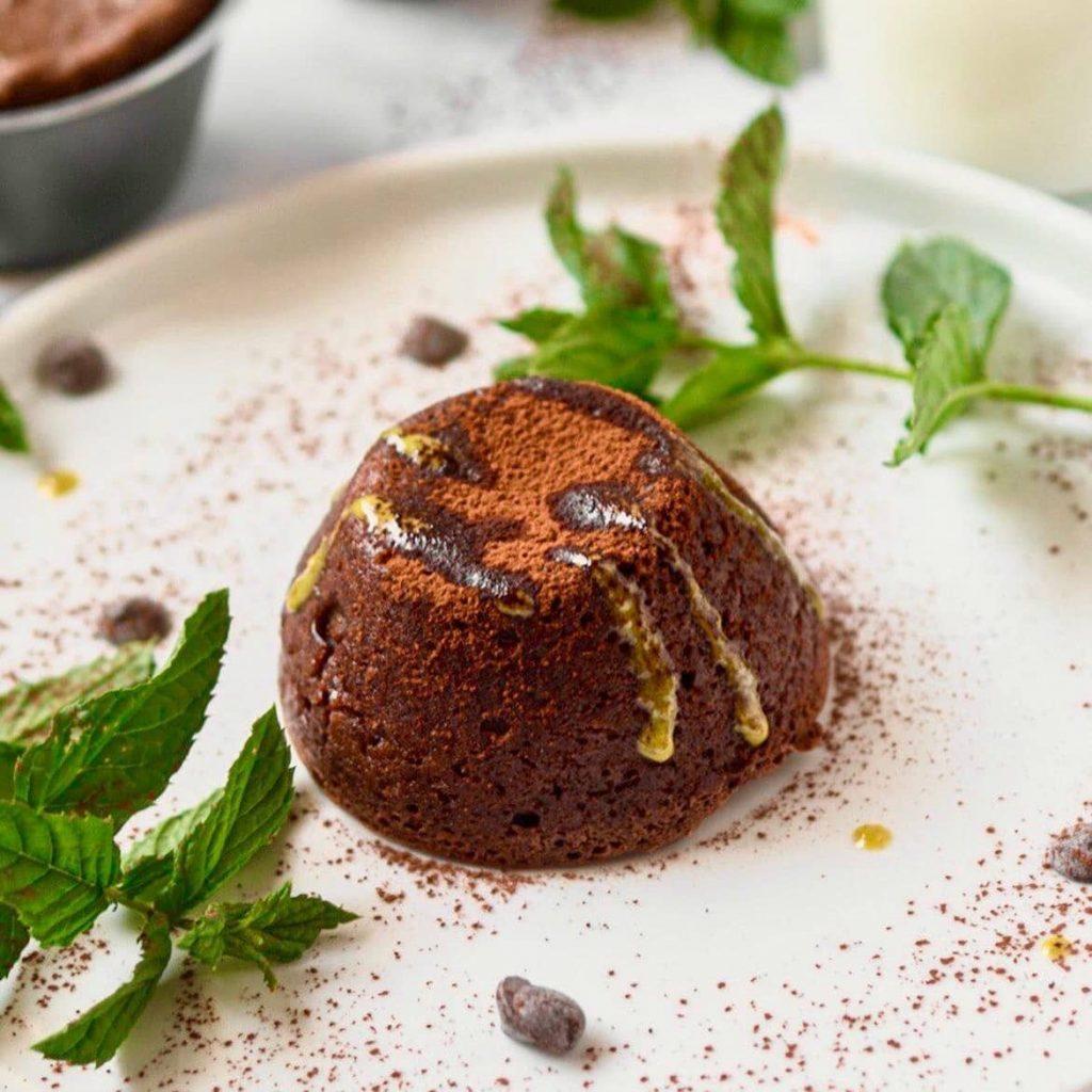coulant de chocolate vegano