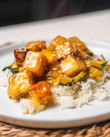 tofu al limón